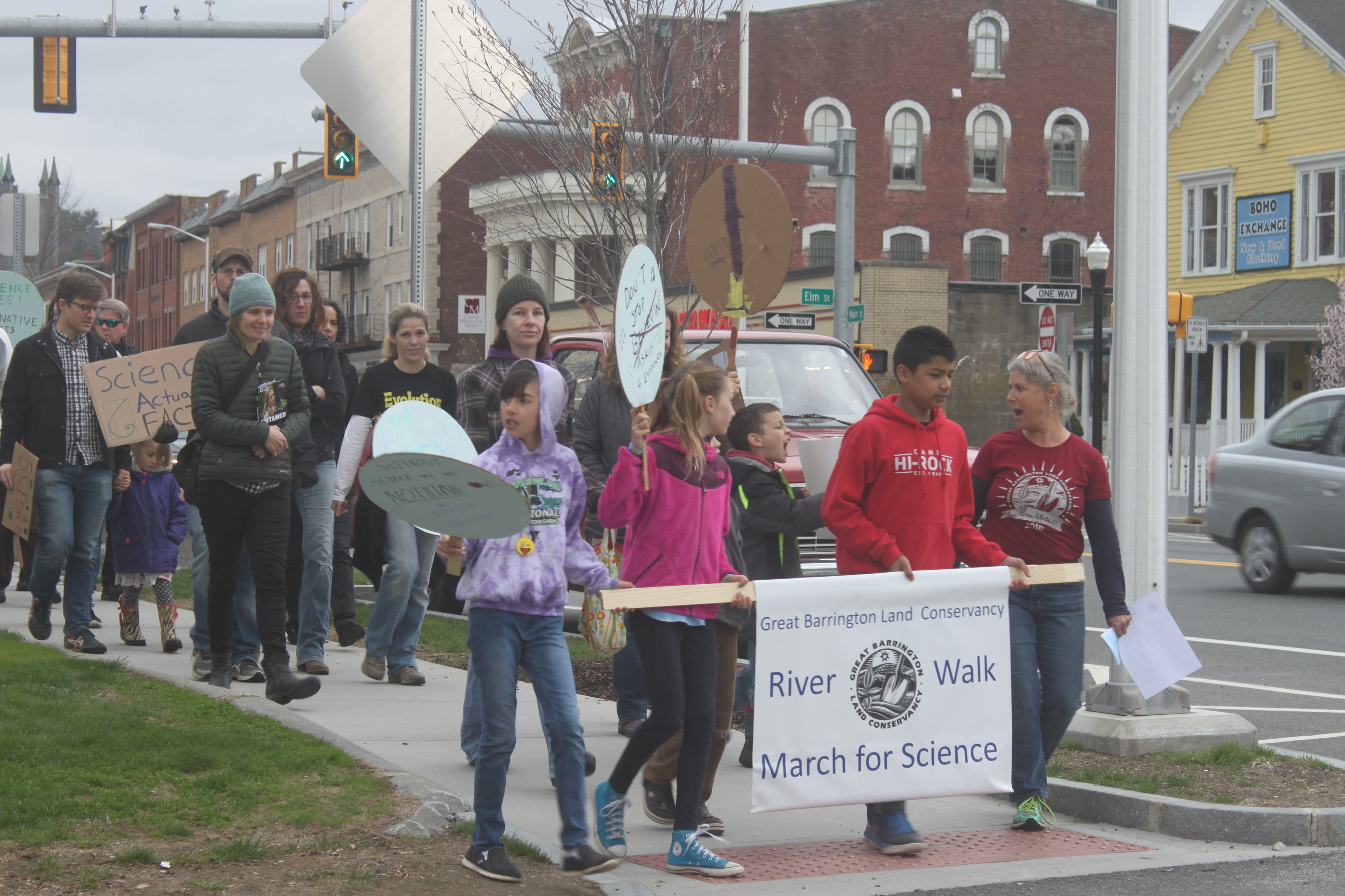 River Walk March for Science on Main Street Great Barrington, MA