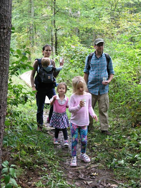 Fathers' Day kids hike at the Pfeiffer Arboretum in Great Barrington