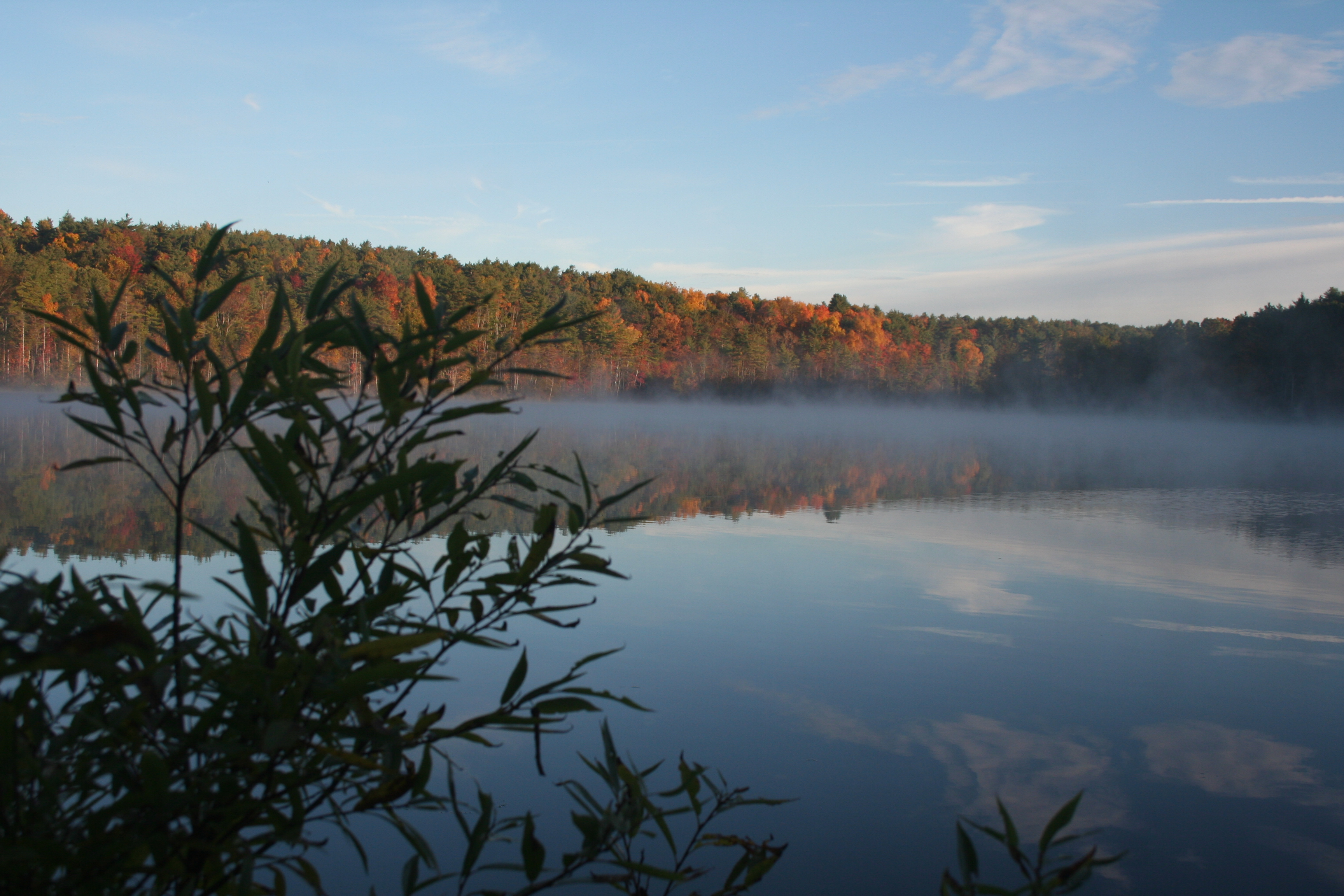 Lake Mansfield morning mist