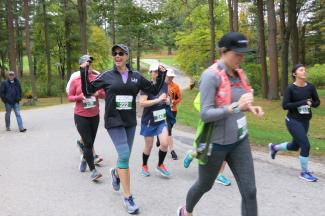 2019 Run for Hills runners on the go
