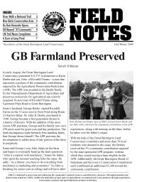 Great Barrington Land Conservancy Newsletter Cover - 2009