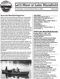 Lake Mansfield Newsletter Cover - 2009