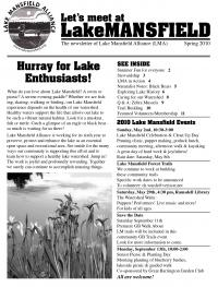 Lake Mansfield Newsletter Cover - 2010