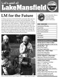 Lake Mansfield Newsletter Cover - 2016